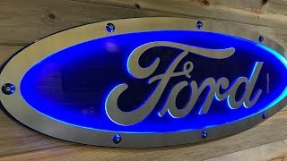 Download Incredible Man Cave Ideas - Aluminum Ford Blue Oval Sign!! - CNC Plasma Table Video