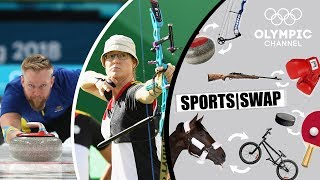 Download Archery vs Curling   Can They Switch Sports?   Sports Swap Challenge Video