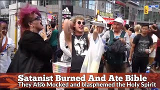 Download BLASphemING Satanists BURNED and ATE BIBLE !!! Video