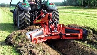 Download Extreme Fast Trimming Soil Slope Heavy Equipment A Harvester For Cleaning Drainage Ditches Machines Video