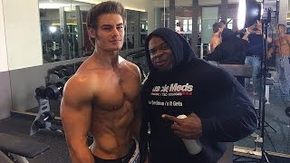 Download IFBB Pro Bodybuilder Kai Greene Chest Workout w/ Pro Mens Physique Jeff Seid & Alon Gabbay Video
