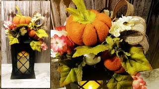 Download Autumn Floral Lantern Decor with Felt Pumpkins - Dollar Tree DIY - Fall 2019 Video