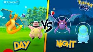Download DO RARE POKEMON SPAWN MORE AT NIGHT OR DAY? Pokemon Go MYTHBUSTERS! + Wild Charizard, Crobat & More! Video