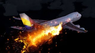 Download Boeing 747 on Fire Explodes Mid-Air | Asiana Airlines Flight 991 | 4K Video