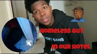 Download Stayed At The Most Dangerous Hotel In LA w/ My Sister!! *FOUND A HOMLESS GUY IN THE BATHROOM* Video