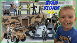 Download Toy Army Action Figures Surprise Box With Toy Tanks, Trucks & Boat Video