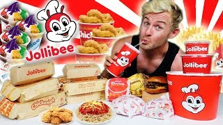 Download THE SUPERCHARGED JOLLIBEE MENU CHALLENGE! (10,000+ CALORIES) Video