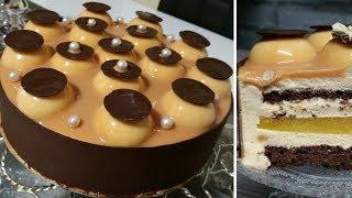Download حلوى كلاصي(حلوى فرنسية) بالكراميل بشكل مبتكر لذيذة و راقيةentremet pêche caramel Video