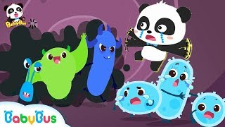 Download Big Germs are Making a Mess in Baby Panda's Body | Kids Good Habits | BabyBus Safety Tips | BabyBus Video