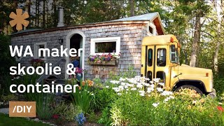 Download WA maker turns skoolie, short-bus & container into family home Video