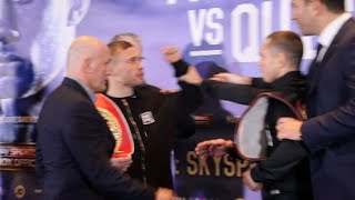 Download HEATED FACE OFF!! - CARL FRAMPTON v SCOTT QUIGG HEAD TO HEAD @ FINAL PRESS CONFERENCE (MANCHESTER) Video