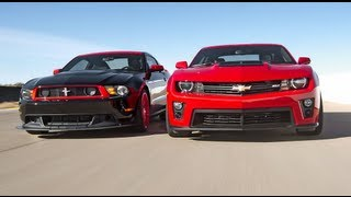 Download Chevrolet Camaro ZL1 vs Ford Mustang Boss 302 Laguna Seca! - Head 2 Head Episode 3 Video