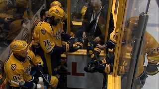 Download Stars & Predators get rough early, rack up six penalties in first 45 seconds Video