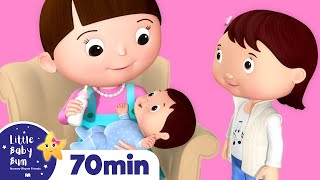 Download New Baby Brother & Sister | Plus More Nursery Rhymes | Over 60 Mins Compilation from LittleBabyBum! Video