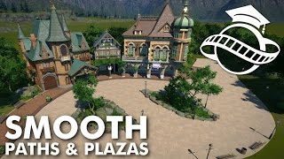 Download Planet Coaster College - Smooth Paths & Plazas Tutorial Video