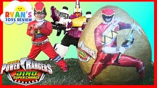 Download POWER RANGERS Dino Super Charge Giant Egg Surprise Opening Video