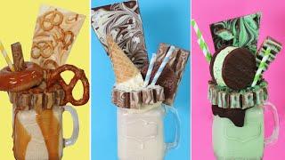 Download KITKAT DESSERT SHAKES | Salted Caramel, Coconut & Choc Mint Whirl Freak Shake Milkshake Recipe Video