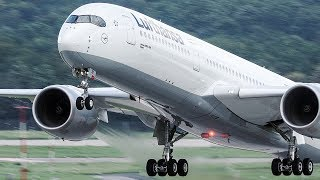 Download 28 HEAVY LANDINGS and Departures in 10 Minutes - Boeing 747, Airbus A350, Boeing 787 ... Video