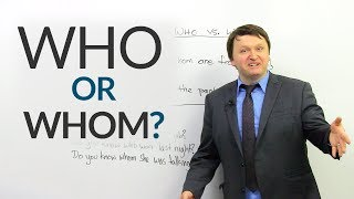 Download Improve your English: WHO or WHOM? Video