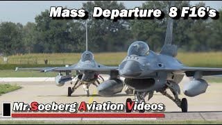 Download BEAUTIFUL MASS Departure 8x F16 of Netherlands Air Force at Volkel Video