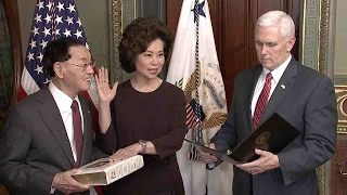 Download Elaine Chao sworn in as the next secretary of US Department of Transportation Video