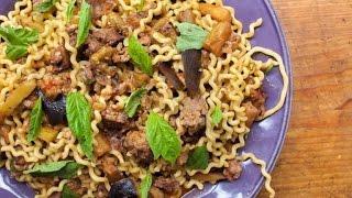 Download Pasta alla Norma with Sausage Video