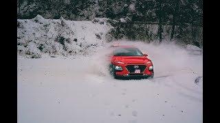 Download New Hyundai Kona 1.6 T-GDi 4x4 - preview & fun in snow Video