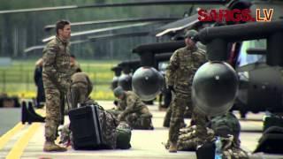 """Download Lielvārdē ierodas ASV karavīri ar """"Black Hawk"""" helikopteriem Video"""