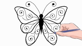 Download How to Draw a Butterfly Easy Step by Step Video