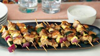 Download Chicken Kebabs With Yoghurt Sauce • Proper Tasty Video