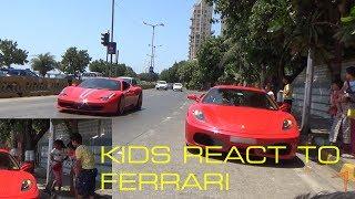 Download KIDS REACT TO FERRARI | FERRARI PUBLIC REACTIONS Video
