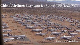 Download China Airlines B747-400 B-18207@TPE/LAX/VCV Video