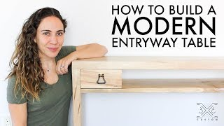 Download Making an Entryway Table // Live-edge shelf // Box Joint // Drawer Video