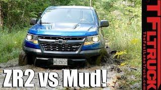 Download Almost Stuck! This is What Happens When Mud-Bogging In a Brand New Chevy ZR2 Video