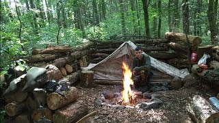 Download SOLO WILD CAMPING UNDER CANVAS - 2 nights Video
