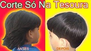 Download Corte de Cabelo Infantil Social So Na Tesoura MASCULINO 2017 Video