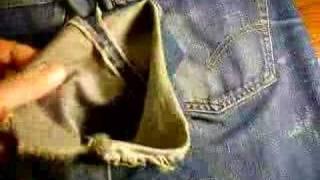 Download Vintage Levis Big E 501 ca. 1968 Video