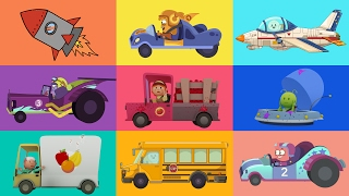 Download CARTOONS FOR KIDS ★ Cars, trucks, planes and more! ★ Vehicle Cartoons for Children Video