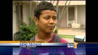 Download Young boy falls 12 stories down trash chute Video