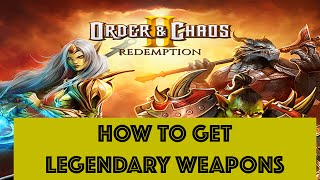 Download Order & Chaos 2: Redemption - HOW TO GET LEGENDARY WEAPONS TO EVOLVE AND USE FAVOR POINTS Video