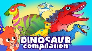 Download Learn Dinosaurs for Kids | Cute and Scary Dinosaur Cartoon videos | Club Baboo Video