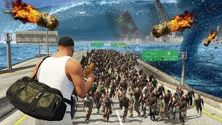 Download GTA 5 - EVERY Natural Disaster EVER!! (Tsunami, Zombies, Meteor Shower, Earthquake & More) Video