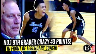 Download #1 9th Grader Emoni Bates INSANE 43 POINTS In Front of LEGENDARY Coach Izzo!! Video