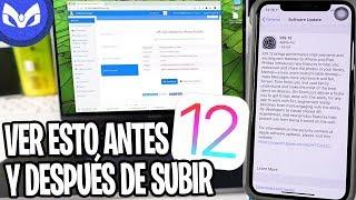 Download SALE iOS 12 COMO SUBIR DE FORMA SEGURA - DETALLES ANTES Y DESPUES Video