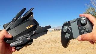 Download Visuo XS809W Folding FPV 720p HD Camera Drone Flight Test Review Video
