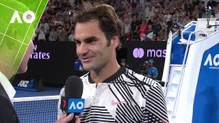 Download Roger Federer on court interview (4R) | Australian Open 2017 Video