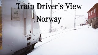Download Train Driver's View: Into the snow we go Video