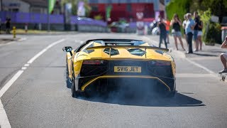 Download Supercars Accelerating - Chiron, 2x Huracan Performante, 812 Superfast, 3x Aventador SV, Murcielago Video