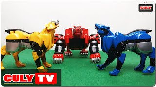 Download Robot siêu nhân mãnh thú Gekiranger đồ chơi trẻ em - animal power rangers kid toy for childrens Video