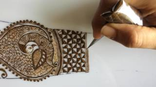 Download Intricate bridal dulhan mehendi with peacock and dulhan design episode 8 Video